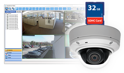 exacqVision Edge vms software directly on security cameras