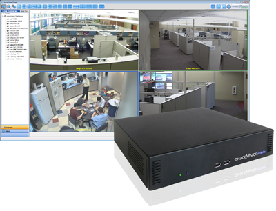 exacqVision Start vms software on LC-Series network video recorder