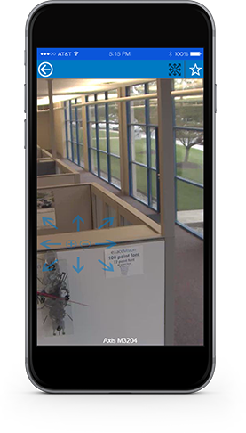 Control security camera PTZ from Exacq mobile app